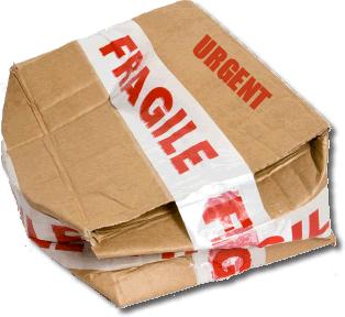 paquete tratado por agencia de transportes