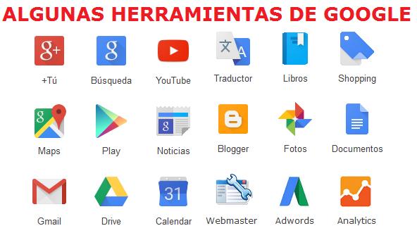 herramientas mas importantes de google