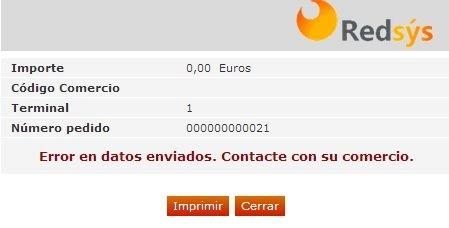 erro en el pago del tpv virtual de una tienda online