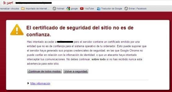 sitios sin certificado ssl