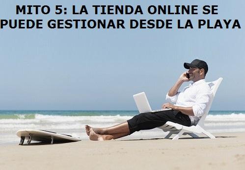 la tienda online la puedo gestionar desde la playa