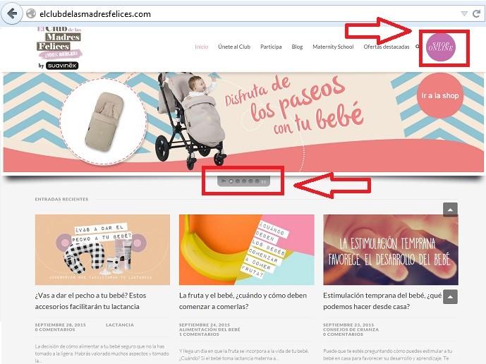 blog con dominio separada de la tienda