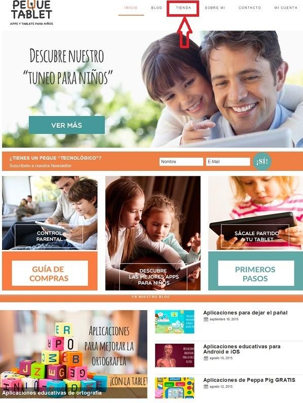 blog y tienda bajo el mismo dominio