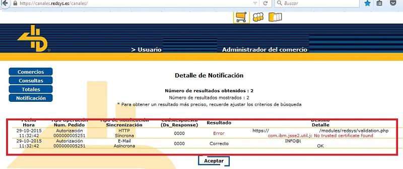 Error en notificacion del tpv redsys en tienda online con certificado ssl