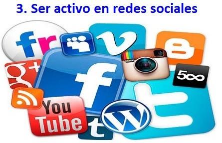 ser activo en redes sociales