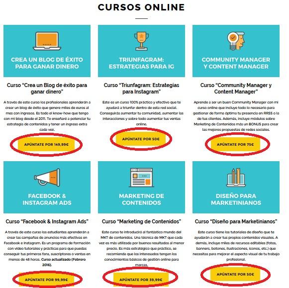 venta online de cursos como negocio rentable