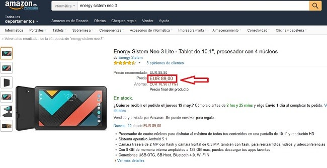 guerra de precios contra amazon por internet