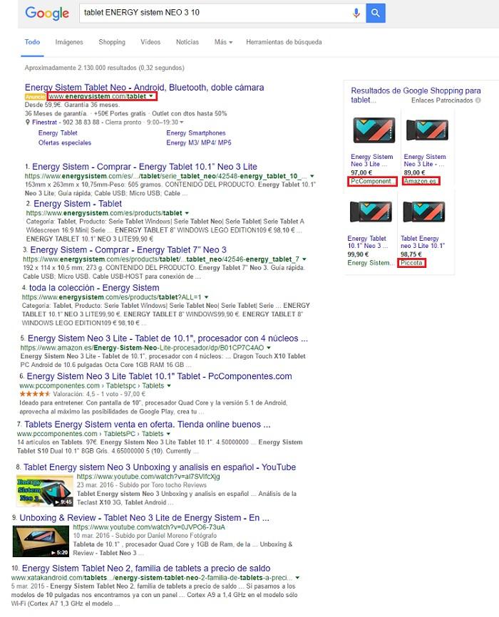 resultados al buscar tablet energy sistem neo 3e 10 pulgadas