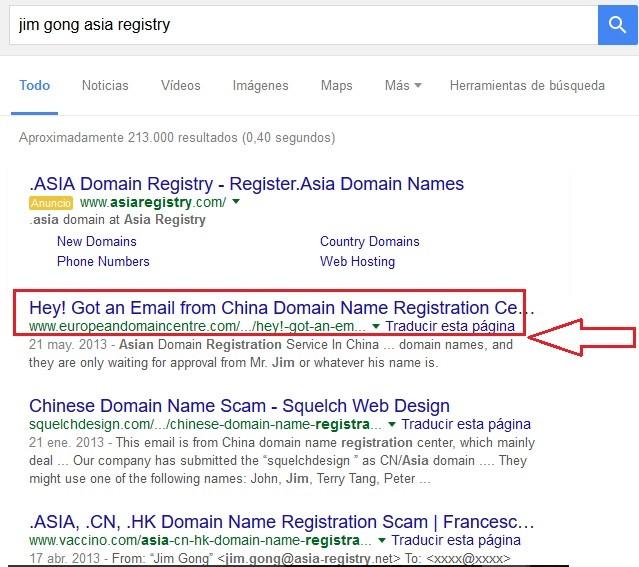 resultados de jim gong asia registry