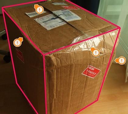 paquete de envio demasiado lleno