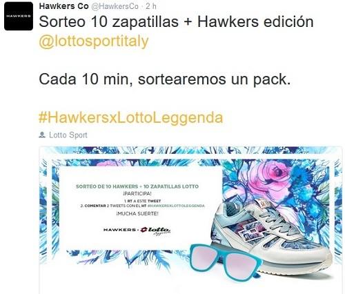 como promociona hawkers en red social twitter