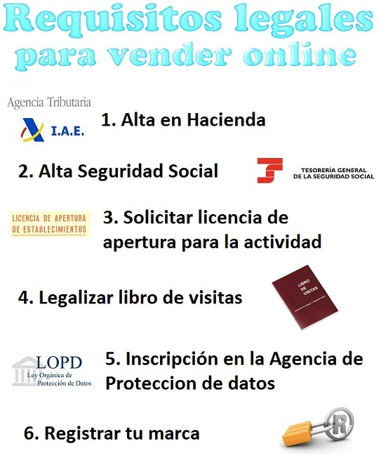 requisitos para vender online legalmente