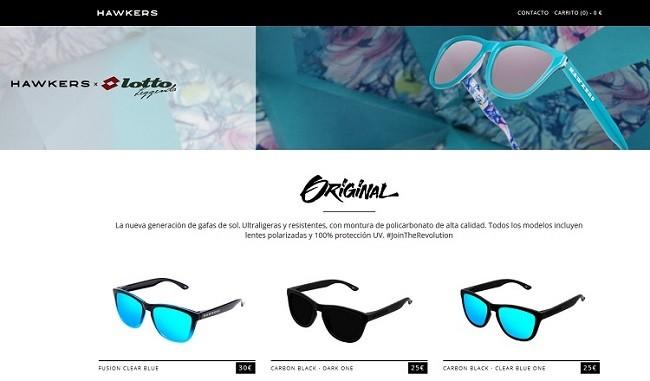 web de hawkers para comprar gafas de sol modernas