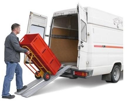 rampa para subir una carretilla cargada a furgonetas vehiculos industriales