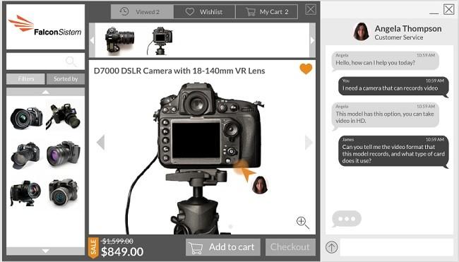 vision comprador con chat sincronizado Oct8ne