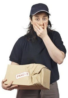 paquete roto
