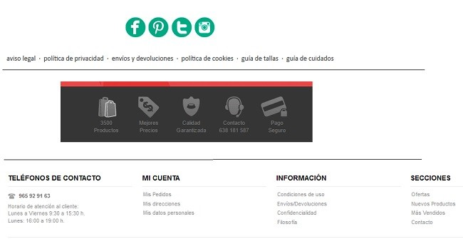 footers personalizado con prestashop easy footer