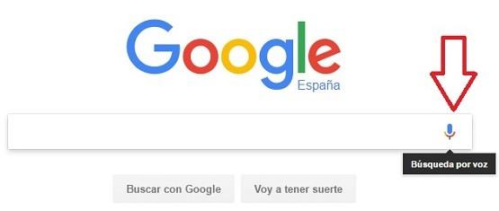busquedas por voz en google
