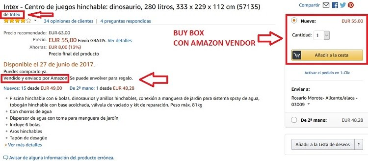 buy box automatica con amazon vendor