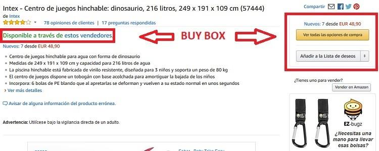 buy box sin vendedor seleccionado