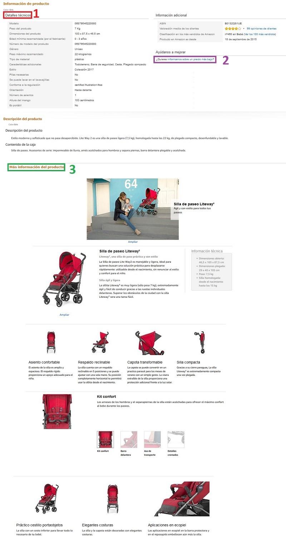 informacion detallada amazon vendor
