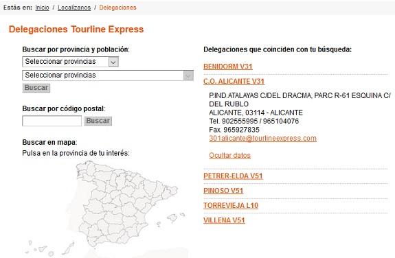 contacto oficina tourline
