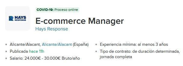salario ecommerce manager para tienda fisica
