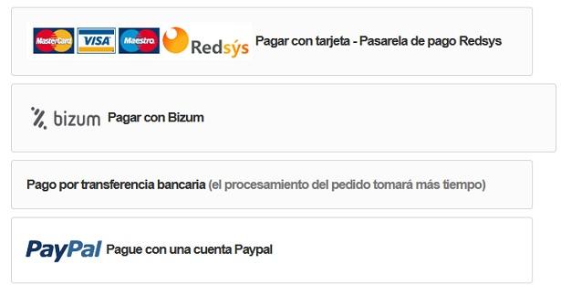 sistema de pago habituales ecommerce